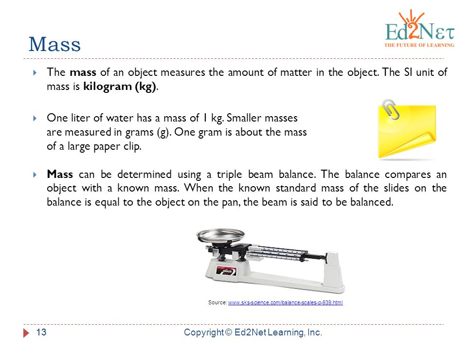 Newton 39 s first law of motion grade 6 unit 1 lesson 6 - One liter is equal to how many kg ...