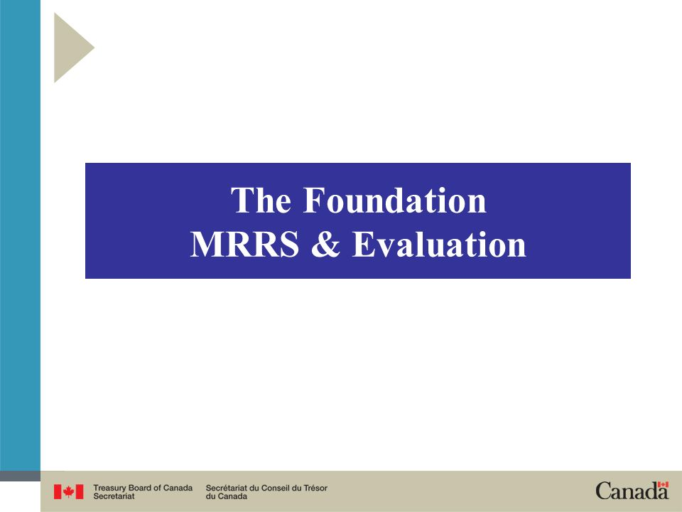 The Foundation MRRS & Evaluation