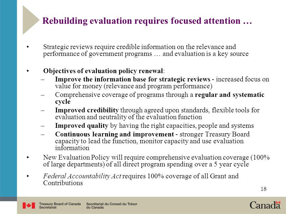 Rebuilding evaluation requires focused attention …