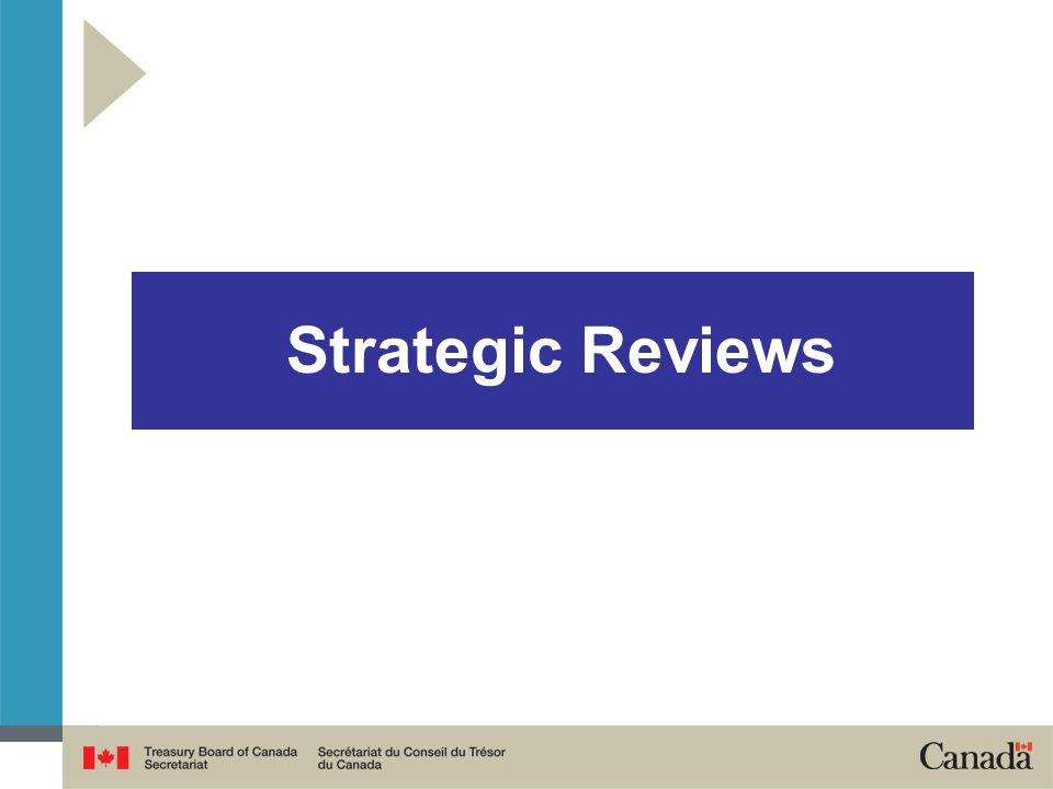 Strategic Reviews