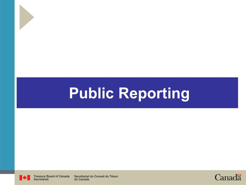 Public Reporting