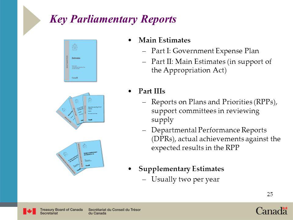Key Parliamentary Reports