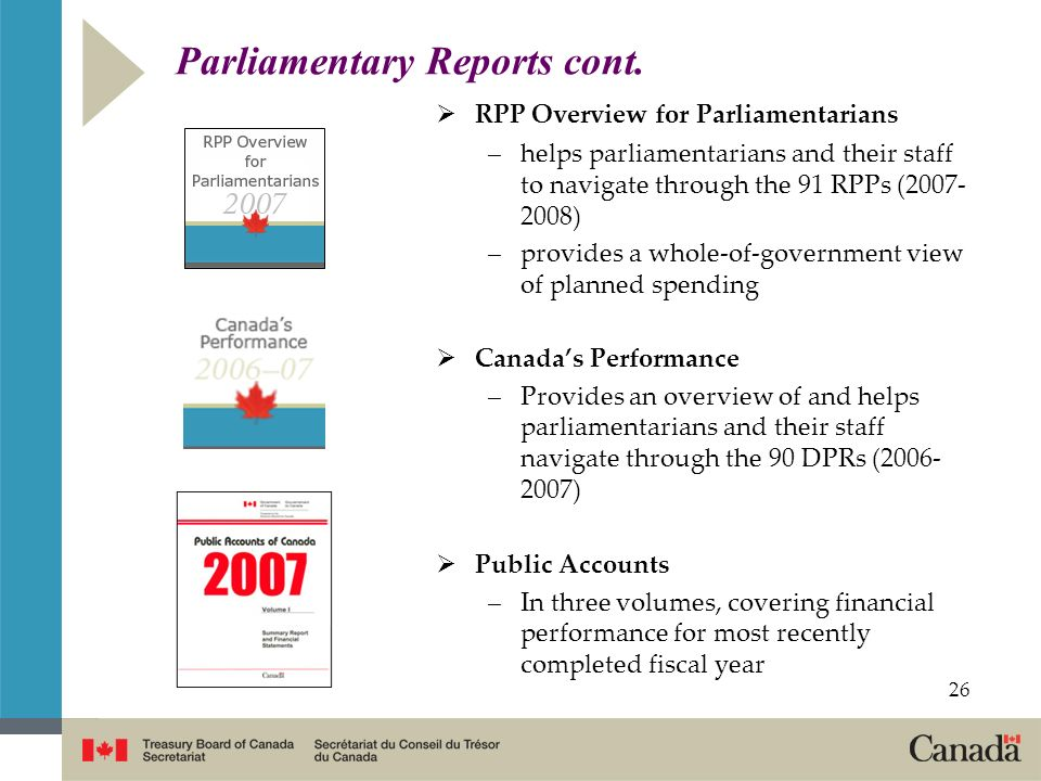 Parliamentary Reports cont.