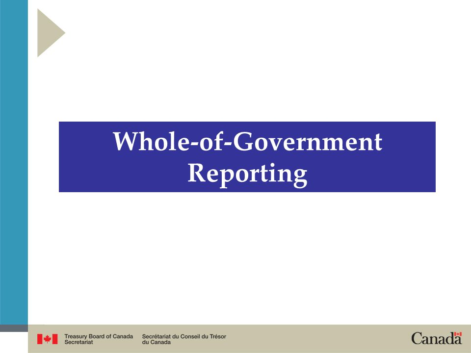 Whole-of-Government Reporting