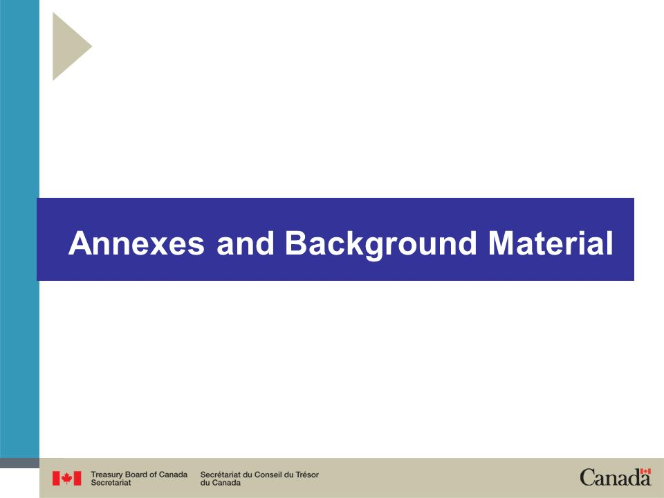 Annexes and Background Material