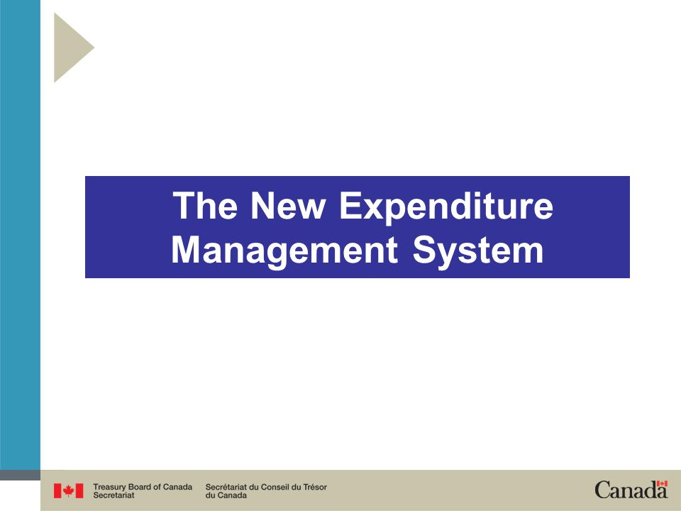 The New Expenditure Management System