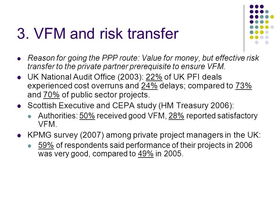 3. VFM and risk transfer