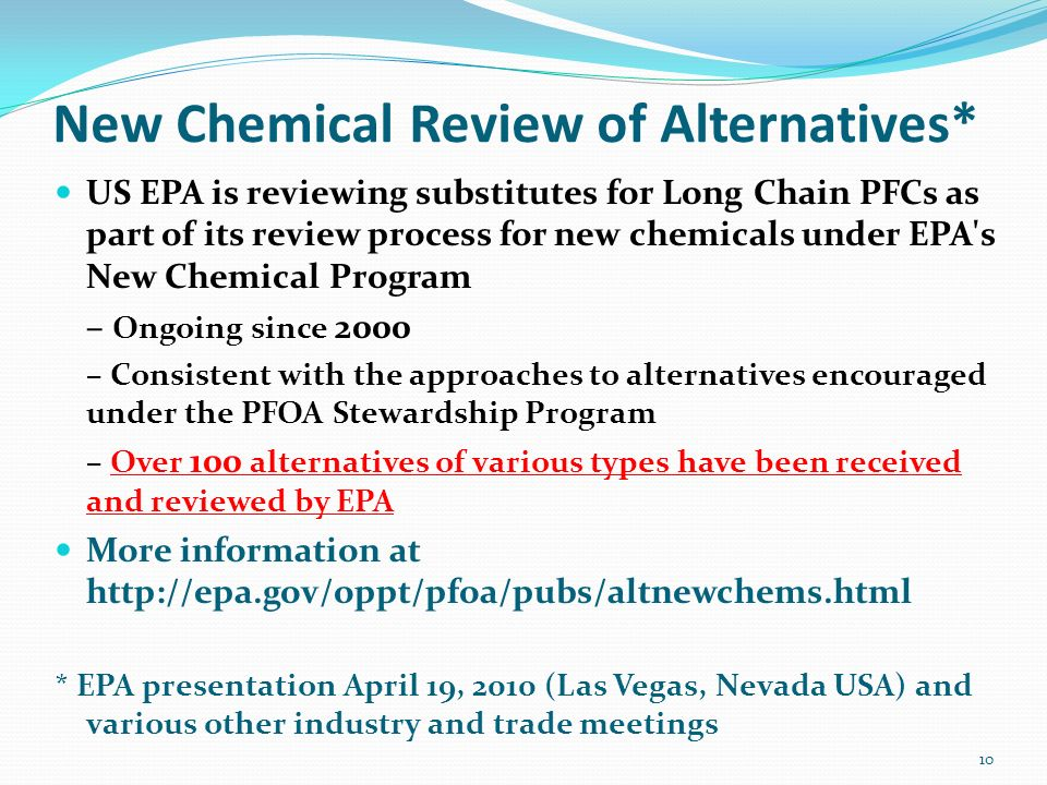 New Chemical Review of Alternatives*