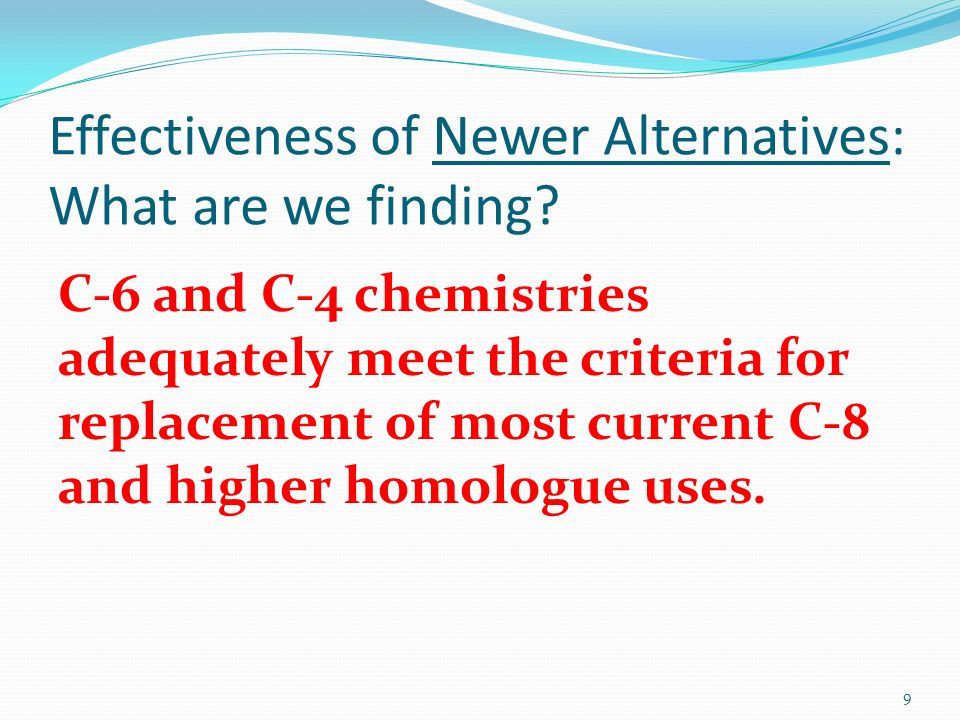 Effectiveness of Newer Alternatives: What are we finding