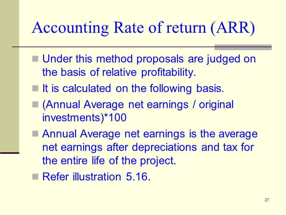 accounting rate of return arr Difference between income and expenditure account and profit and loss account.