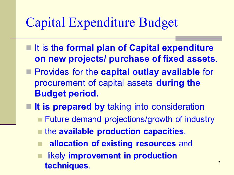 Capital budgeting investment appraisal methods ppt for Capital expenditure proposal template