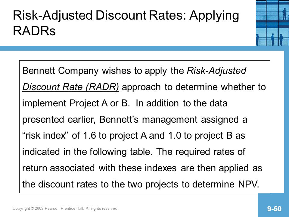 risk adjusted discount rate Start studying finance chapter 11 (final) learn vocabulary, terms, and more with flashcards, games, and other study tools 5 risk adjusted discount rate approach.