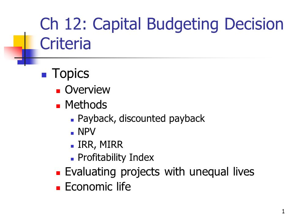 the capital budgeting decision essay View this essay on capital budgeting there are a number of qualitative factor that go into a capital budgeting decision the first is that the company needs.