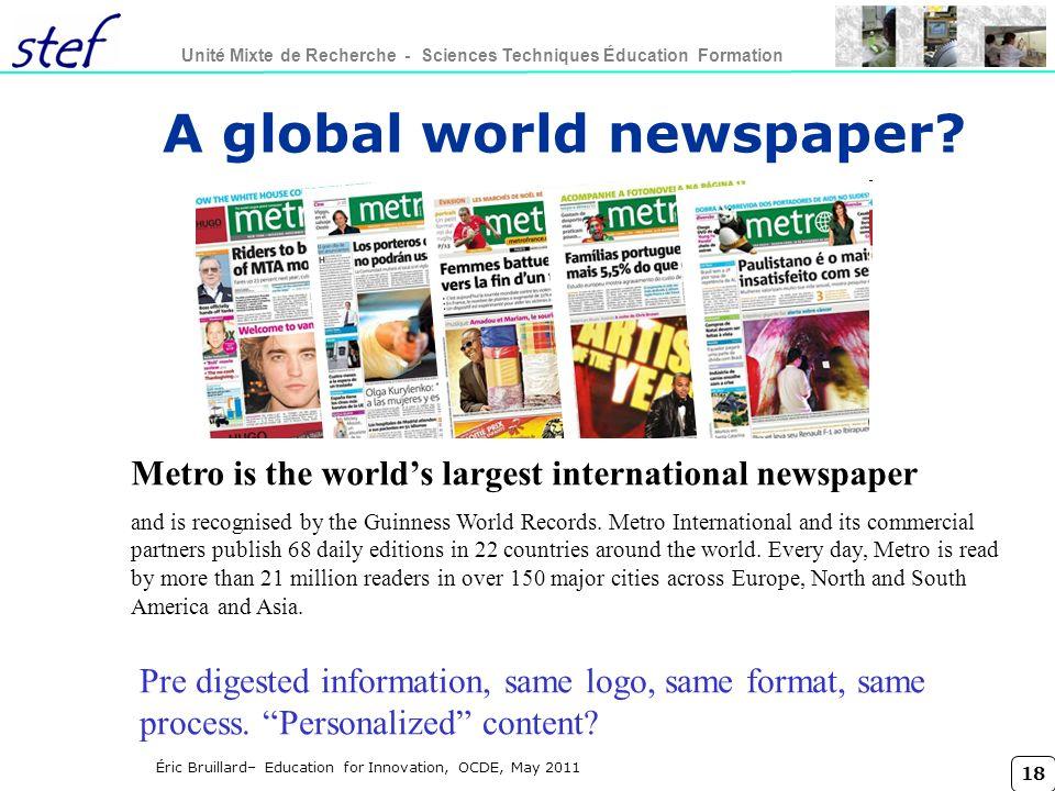 A global world newspaper