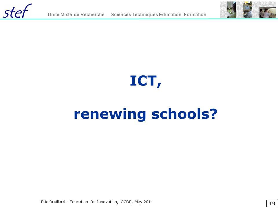 ICT, renewing schools Titre conférence lundi 27 mars 2017