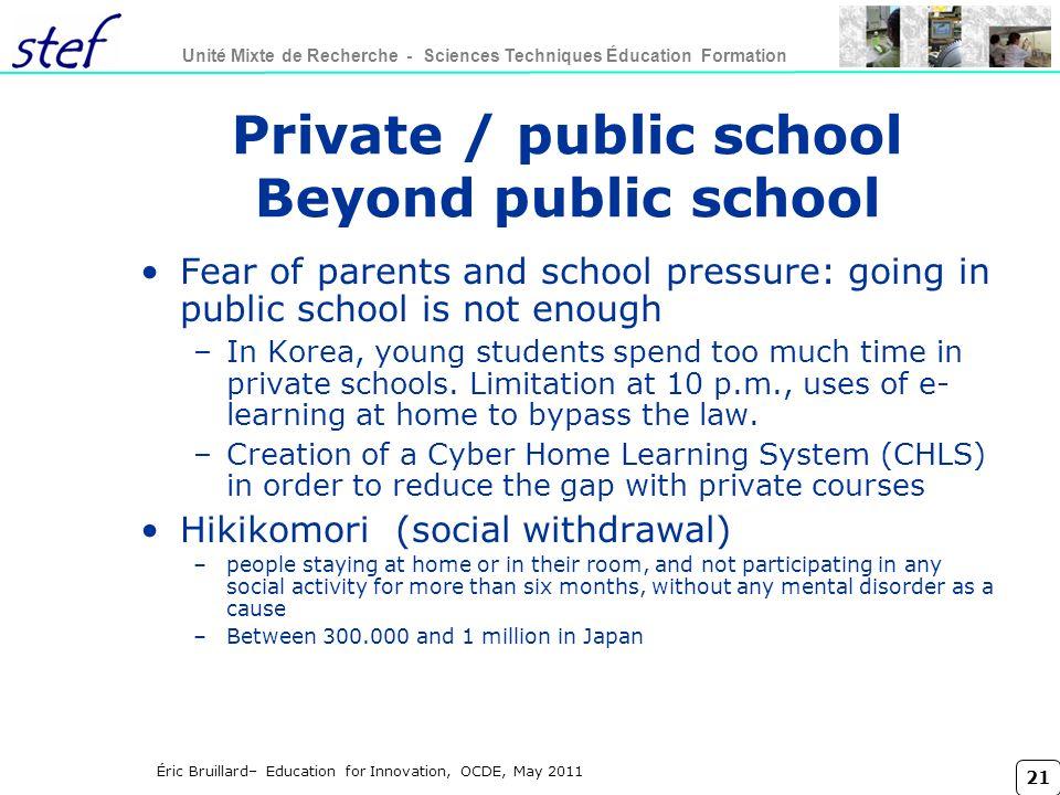 Private / public school Beyond public school