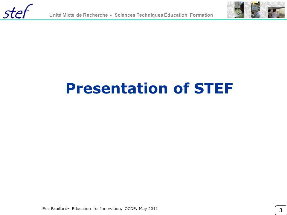 Presentation of STEF Titre conférence lundi 27 mars 2017