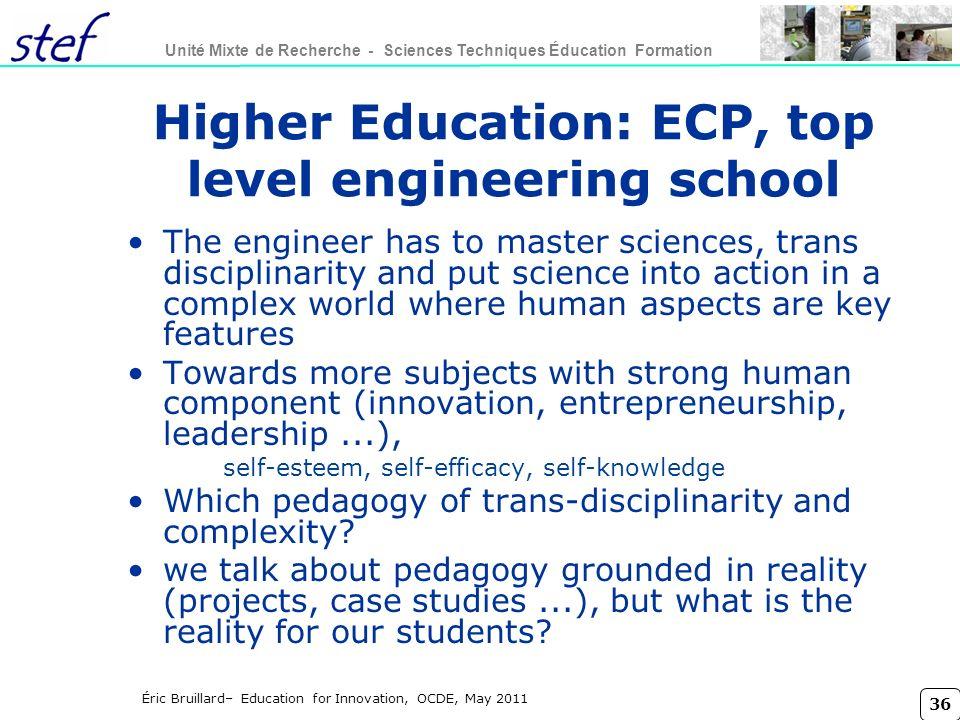 Higher Education: ECP, top level engineering school