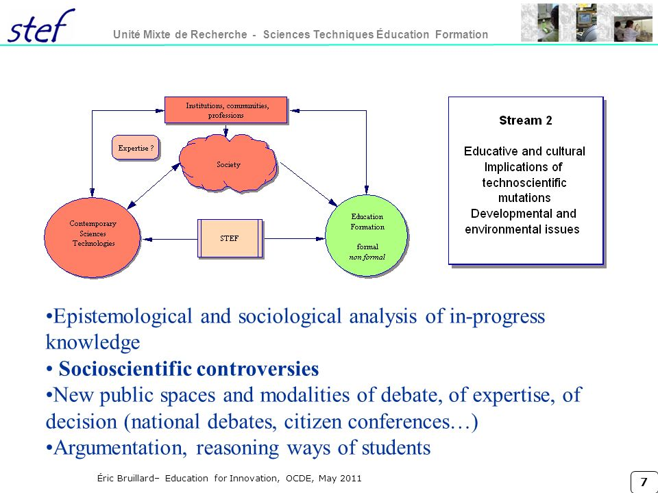 Epistemological and sociological analysis of in-progress knowledge