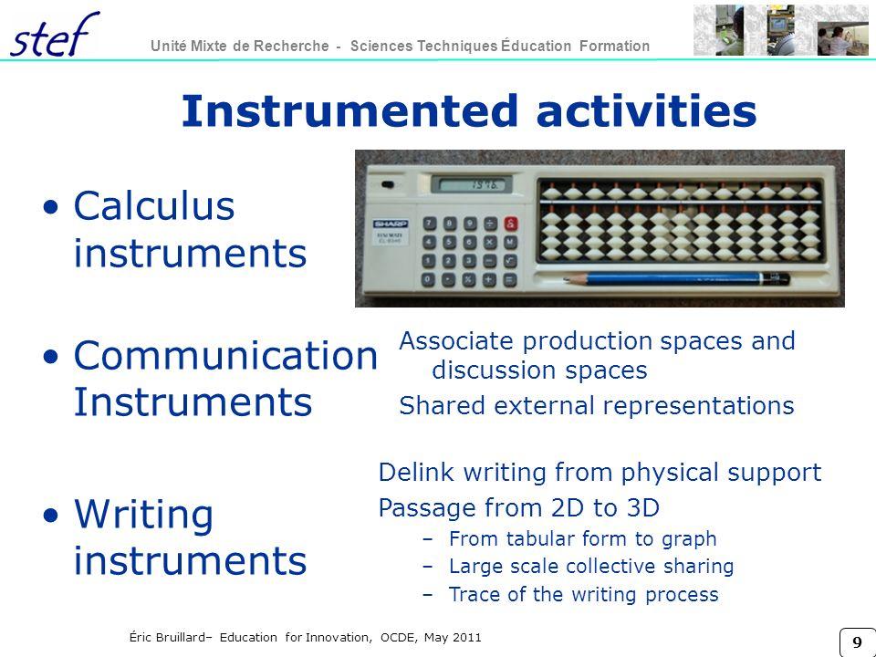 Instrumented activities
