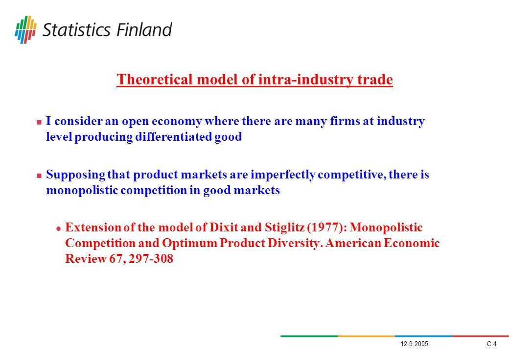 Theoretical model of intra-industry trade