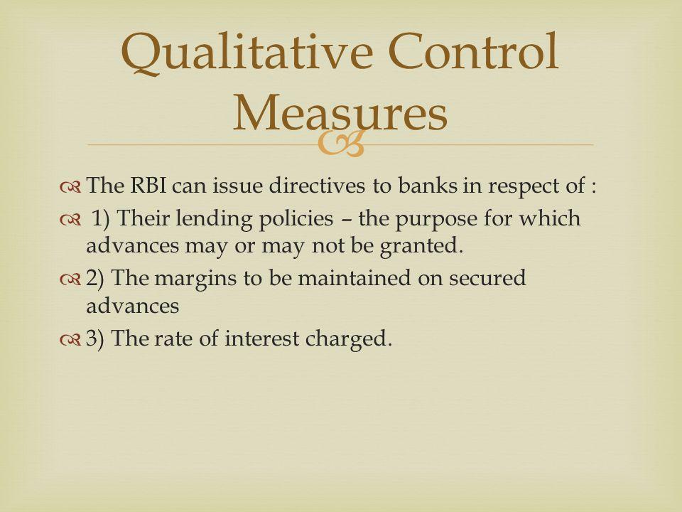 credit control measures of rbi pdf