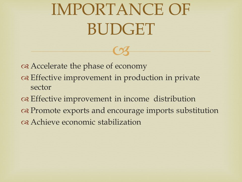importance of a budget to a A budget is a plan that helps you prioritize your spending with a budget, you can move focus your money on the things that are most important to you.