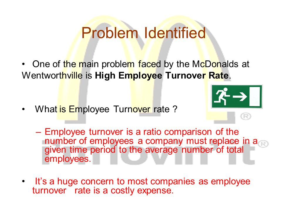 mcdonalds employee turnover A high employee-turnover rate has been a perennial problem for fast-food restaurants last year the rate rose to 130 percentdespite rising wages, flexible.