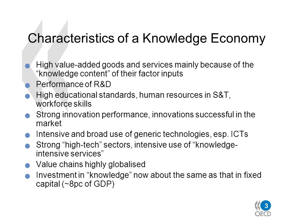 Characteristics of a Knowledge Economy