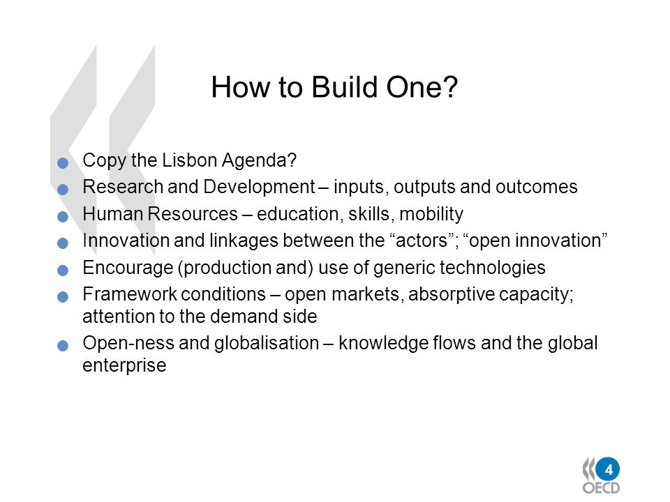 How to Build One Copy the Lisbon Agenda