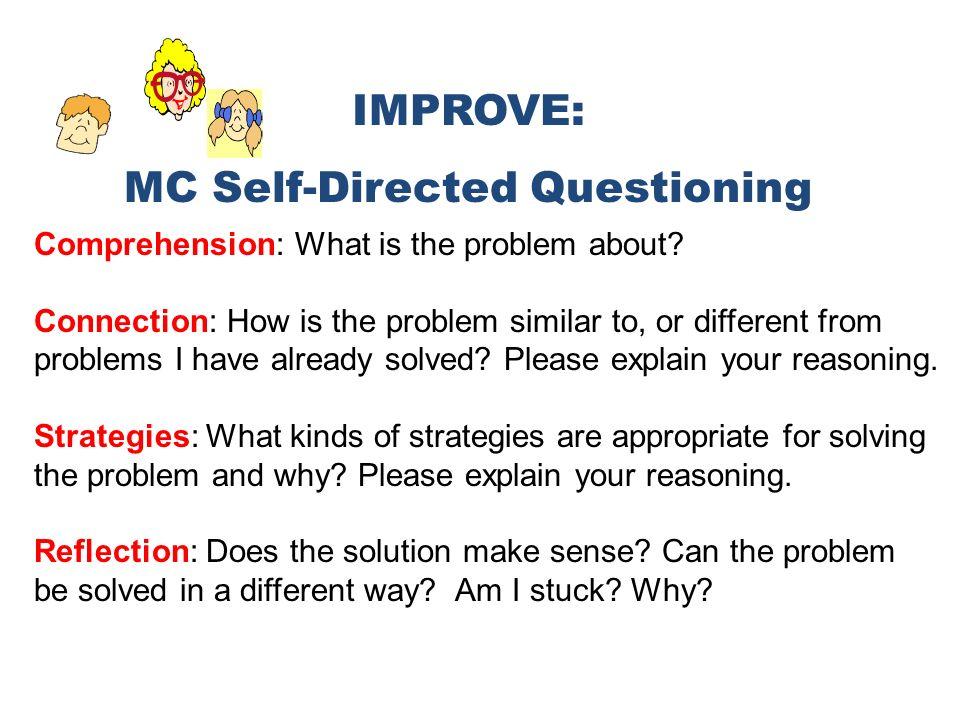 MC Self-Directed Questioning