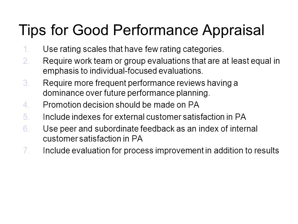 Tips for Good Performance Appraisal