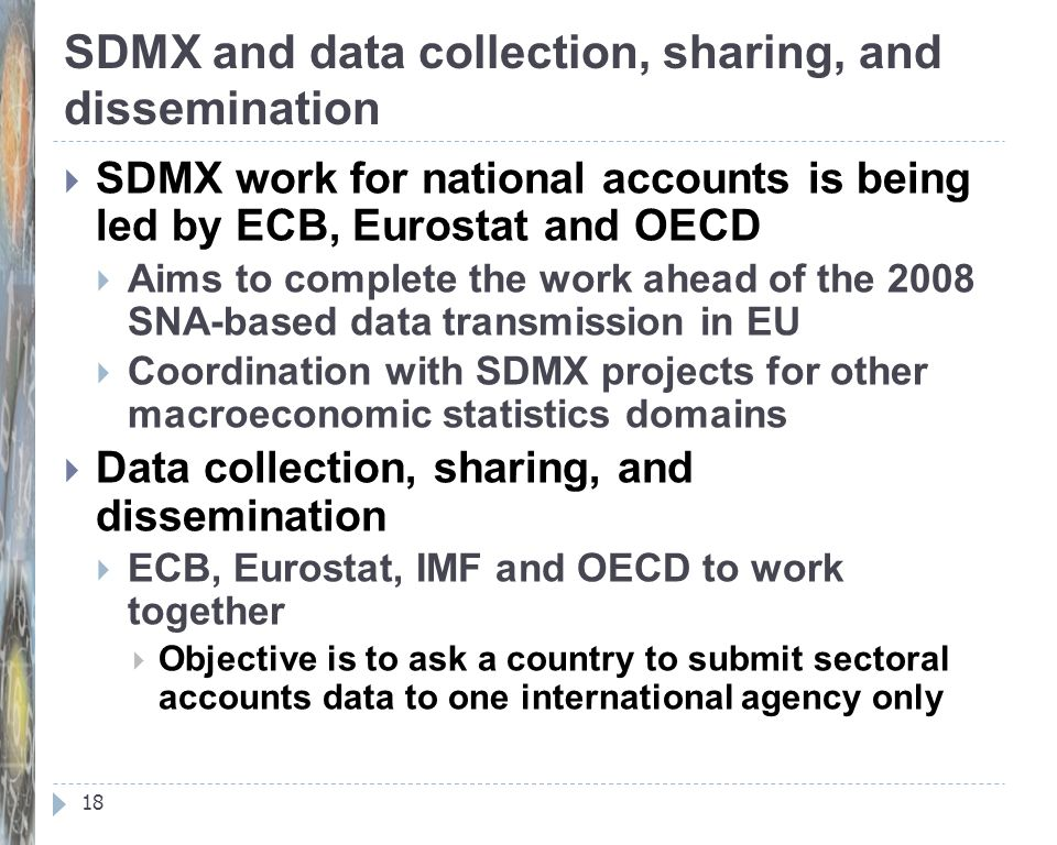SDMX and data collection, sharing, and dissemination