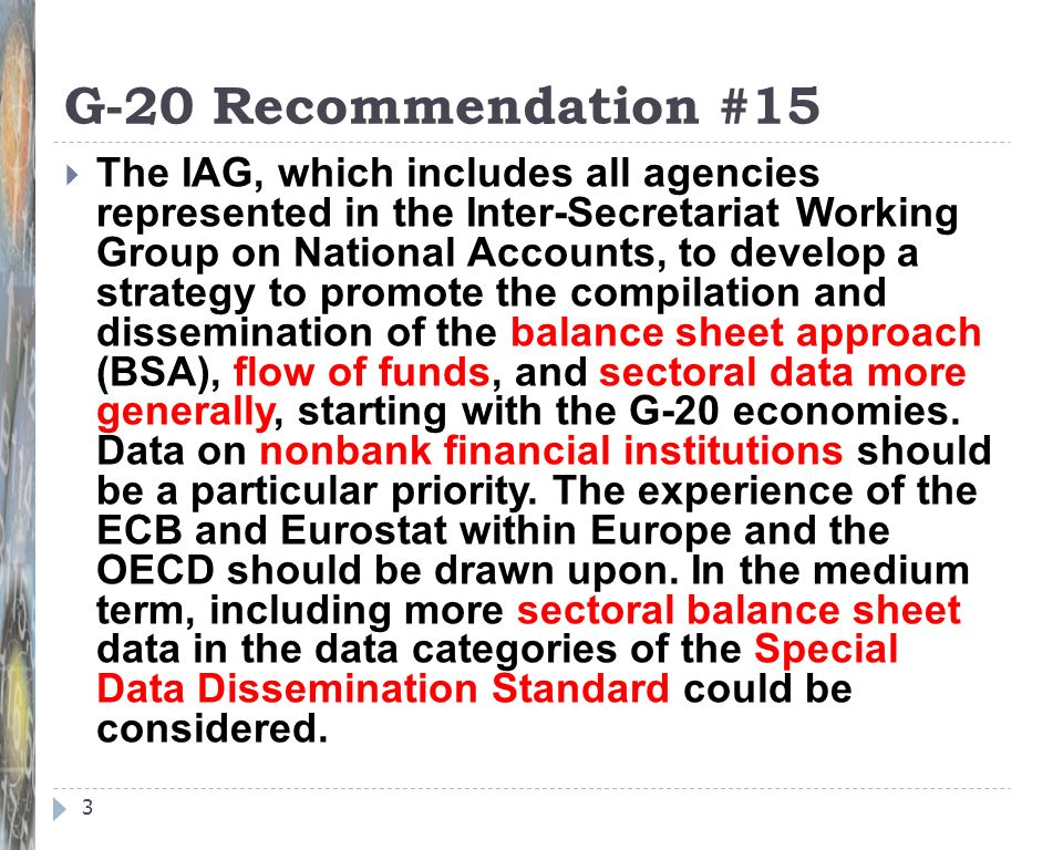 G-20 Recommendation #15