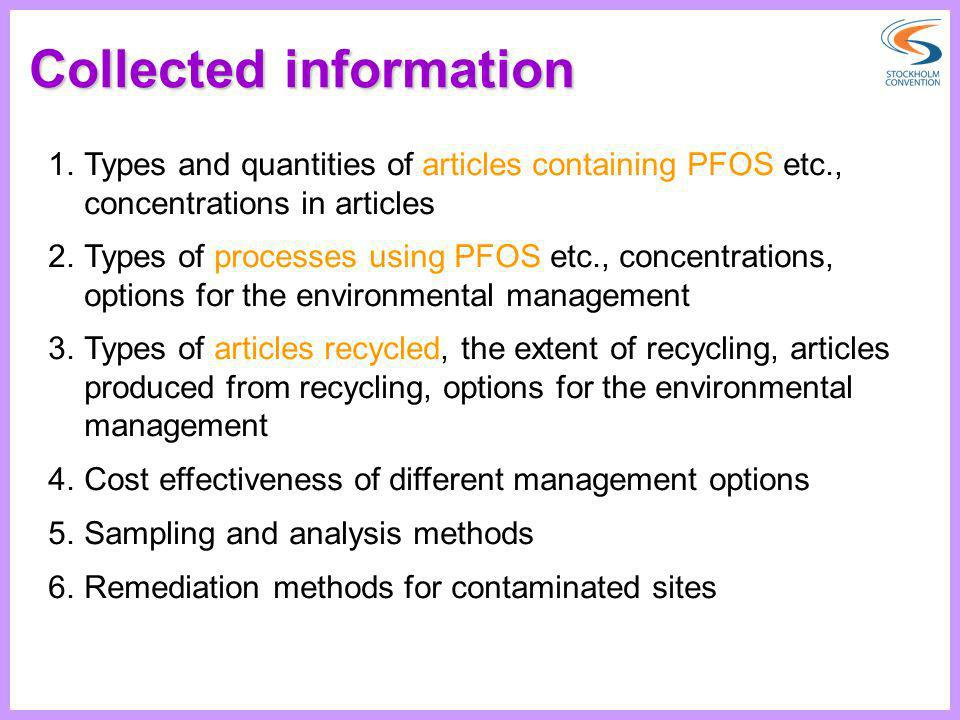 Collected information