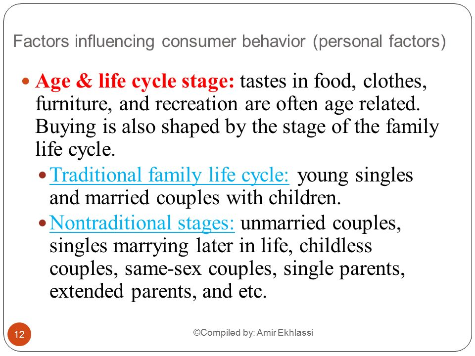 consumer behaviour family life cycle Impact on consumer behavior, and suggest a new, more appropriate flc with  research implications the traditional family life cycle approach and.