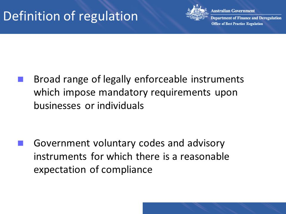 Definition of regulation