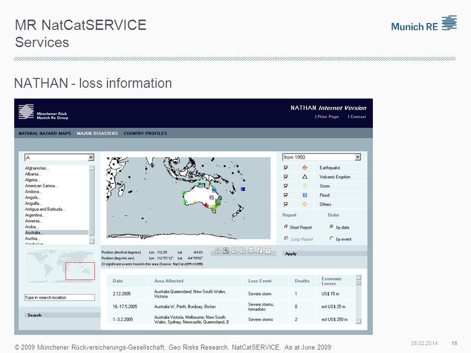 MR NatCatSERVICE Services