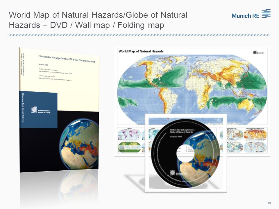 World Map of Natural Hazards/Globe of Natural Hazards – DVD / Wall map / Folding map