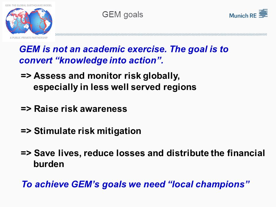 => Assess and monitor risk globally,