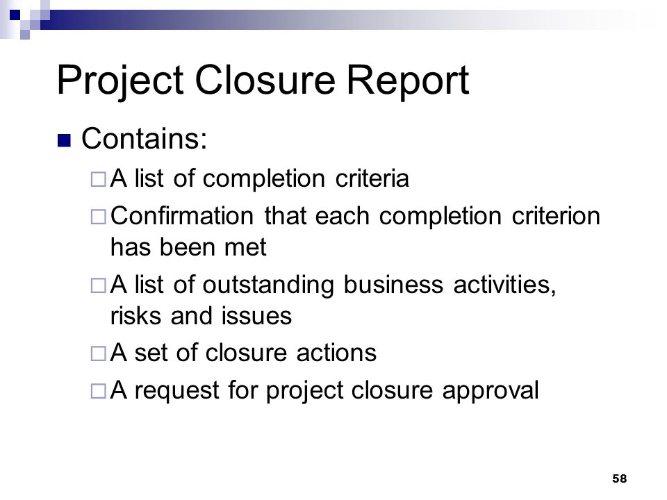 Project Closure May Th Ppt Download