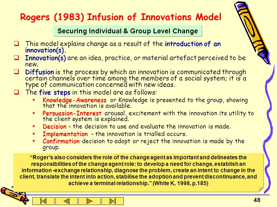 theories of innovation and change management essay Systems theory and diffusion of innovation introduction nursing  these developments are because of concepts and theories that are  management change essay.