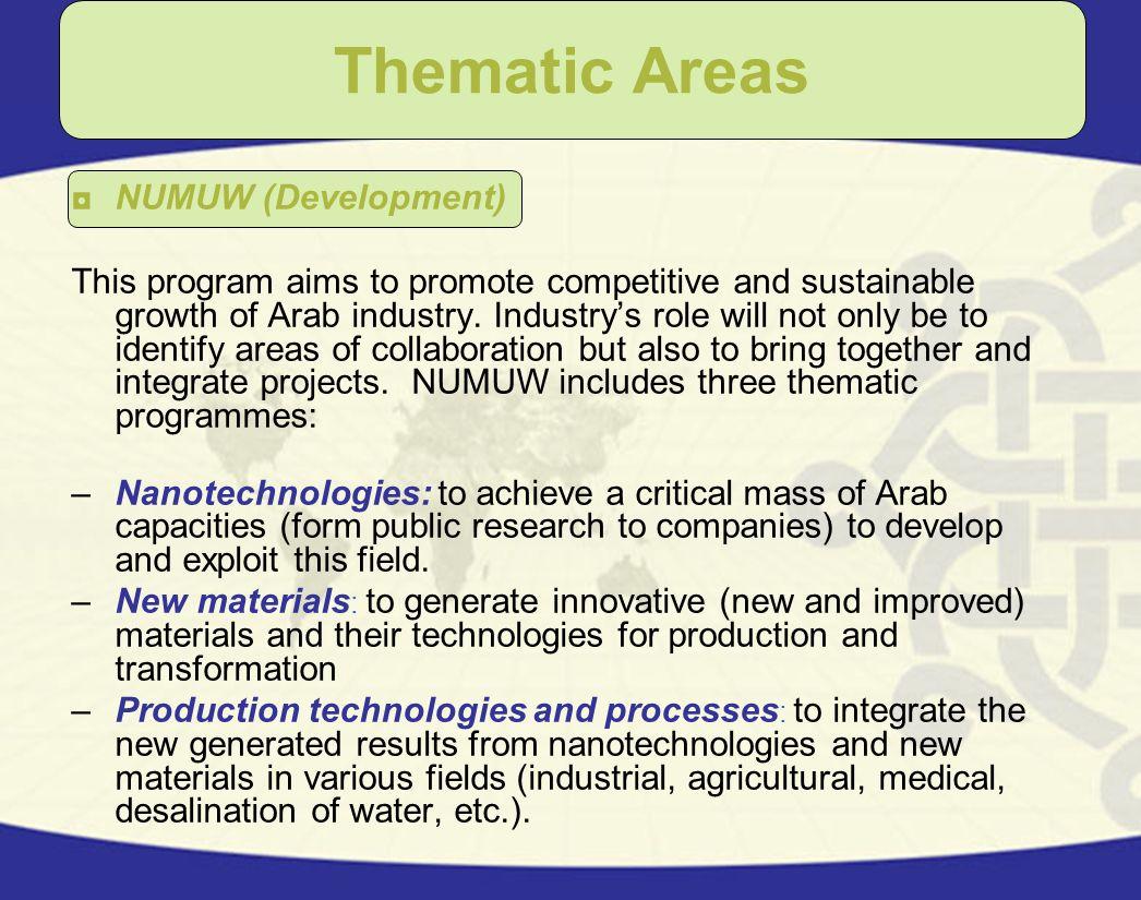Thematic Areas NUMUW (Development)