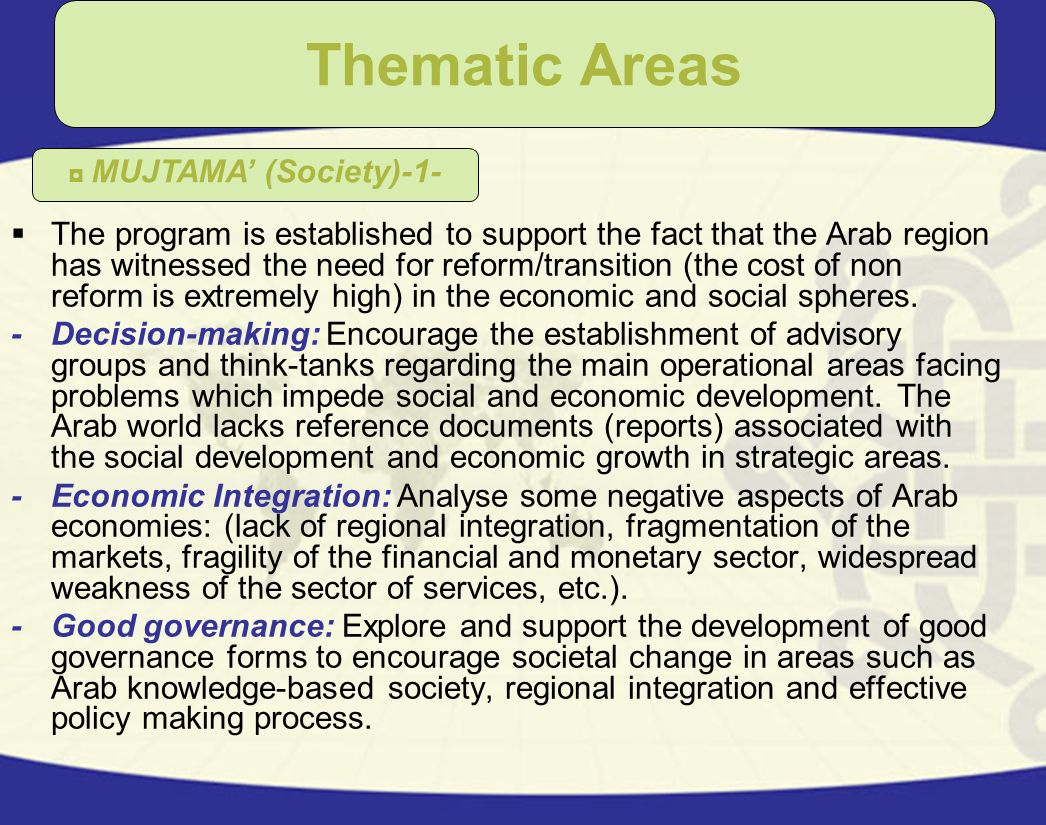 Thematic Areas MUJTAMA' (Society)-1-