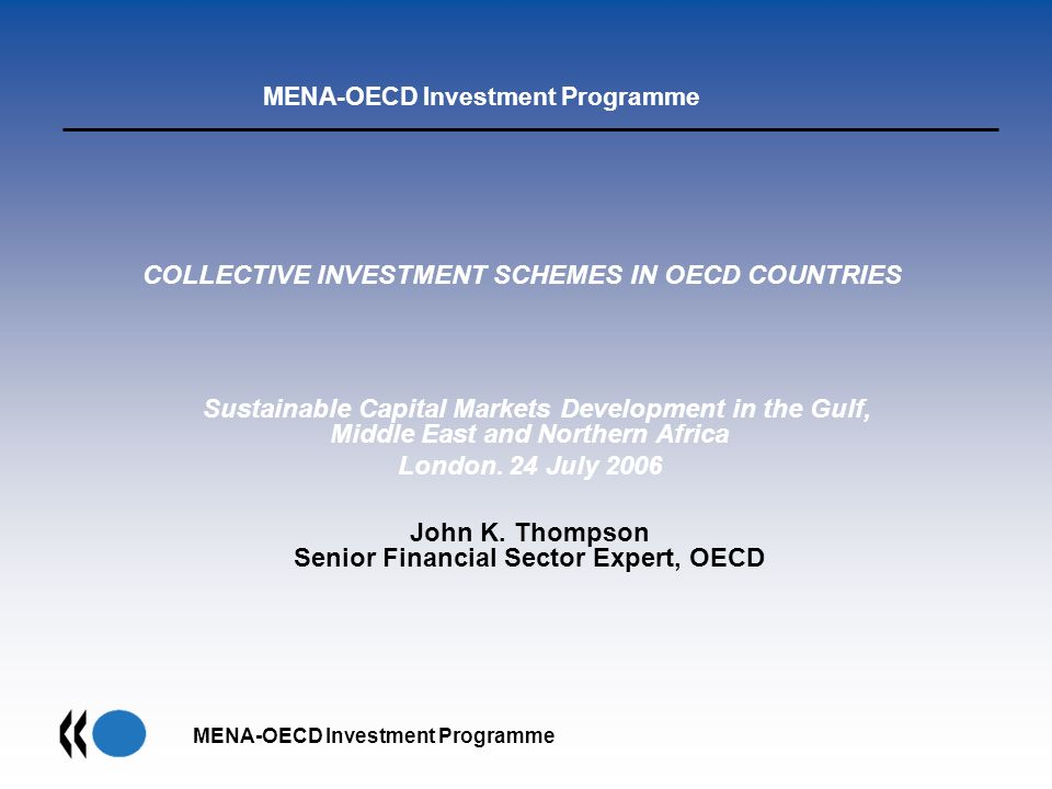 COLLECTIVE INVESTMENT SCHEMES IN OECD COUNTRIES