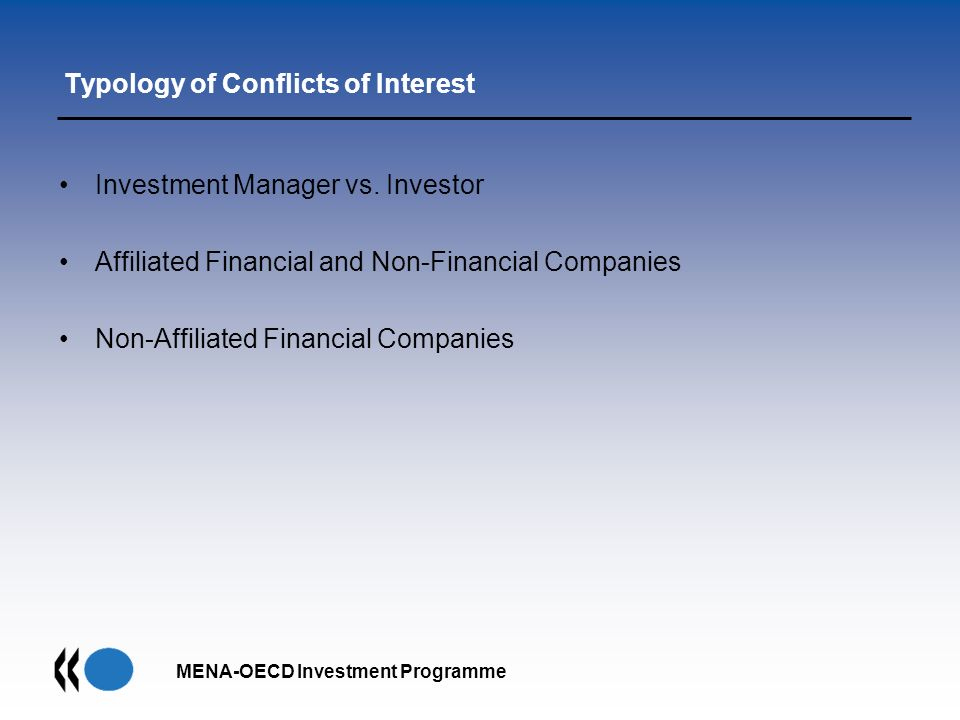 Typology of Conflicts of Interest