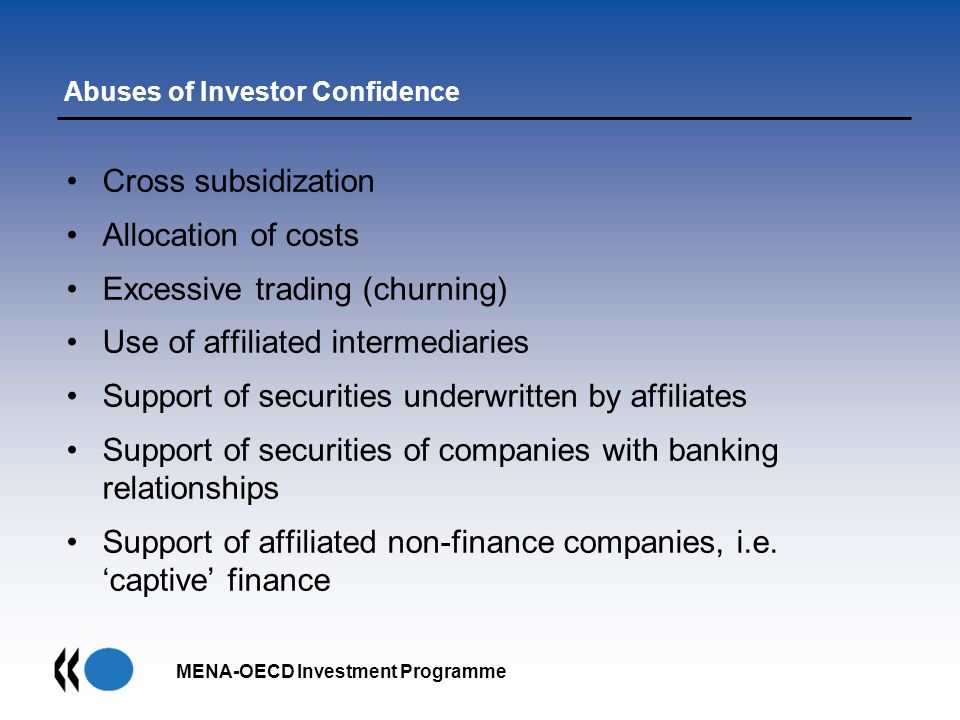 Abuses of Investor Confidence