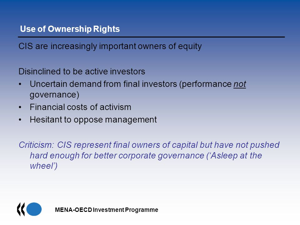Use of Ownership Rights
