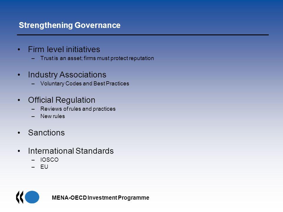 Strengthening Governance
