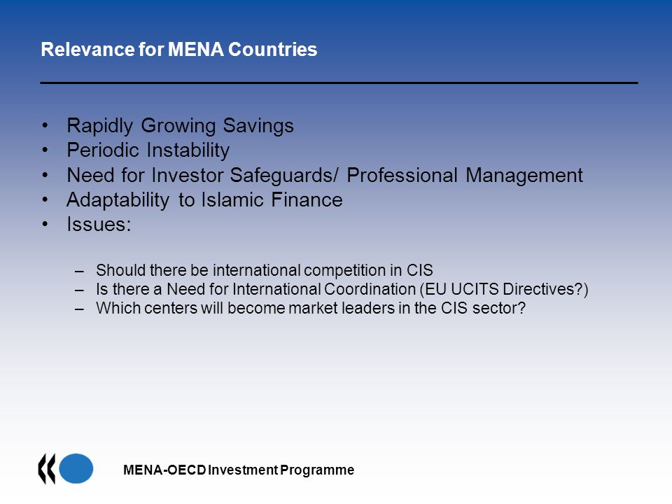Relevance for MENA Countries